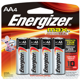 AA Energizer Battery, 4pk