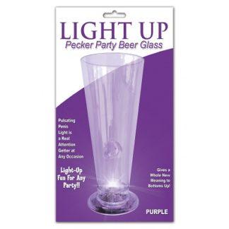 light up pecker party beer glass bachelorette